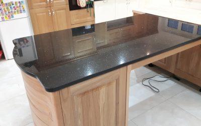 Black Galaxy Granite Kitchen Worktop Installation South Nutfield