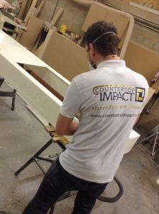Corian fabricator at countertop impact