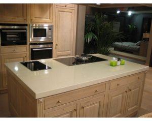 Quartz island kitchen worktop