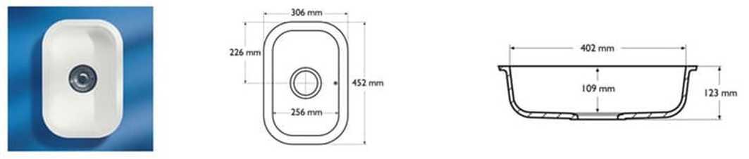 Corian Sink Model 802