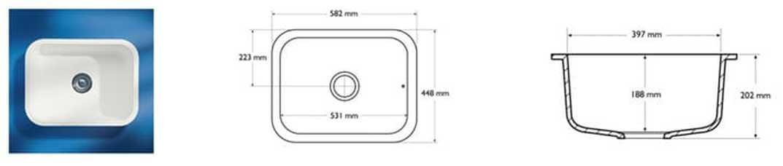 Corian Sink Model 871
