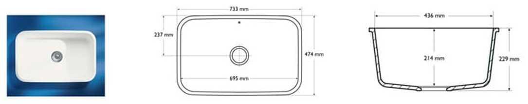 Corian Sink Model 881