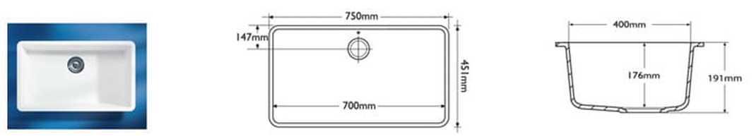 Corian Sink Model 966