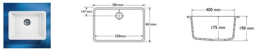 Corian Sink Model 970