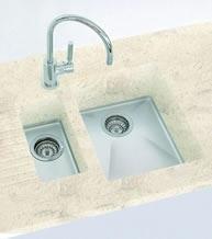 Clamshell Corian sink