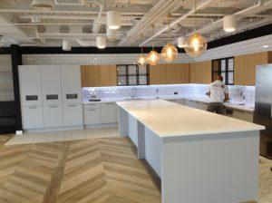 Glacier white kitchen worktops london
