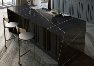 Eternal black Quartz worktop